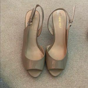 Tan Nine West heels!